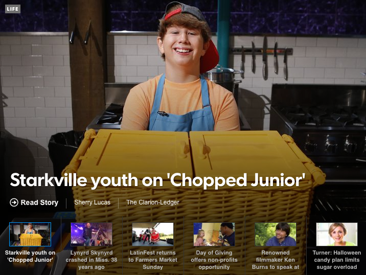 Clarion Ledger article on Chopped Junior